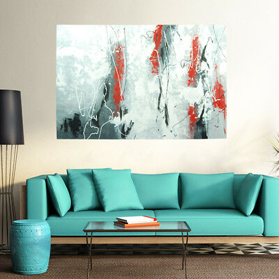 Hand Painted Abstract Oil Painting On Canvas Wall Art Home Decor Framed Rebirth