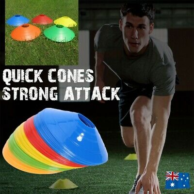 Fitness Exercise Sport Training Discs Markers Cones Soccer Alf Rugby 60/120/180x
