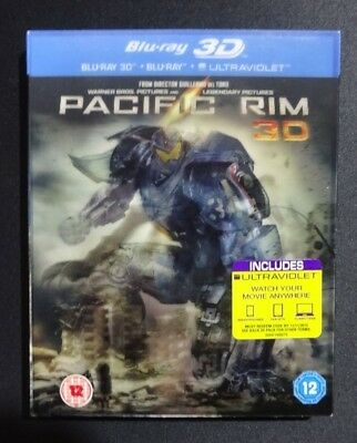 PACIFIC RIM Blu Ray 3D & 2D with Special Features Disc (3 blu-ray discs)