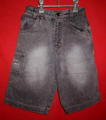 """""""NUGGETS"""" Kids Black Denim Shorts - Size 4 - Preowned"""