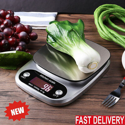 Kitchen Scale Electronic Food Weighing Scale Digital Measuring Gram Accurate HOT