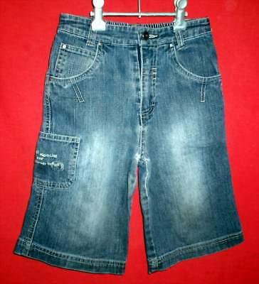 """""""NUGGETS"""" Kids Blue Denim Shorts - Size 4 - Preowned"""