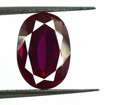 Natural African Blood Red Ruby 5.05 Ct Oval Loose Gemstone AGSL Certified F246