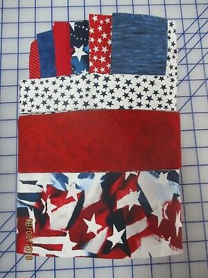 Awesome Americana Quilt As You Go Tablerunner Kit, Fabric & Patt