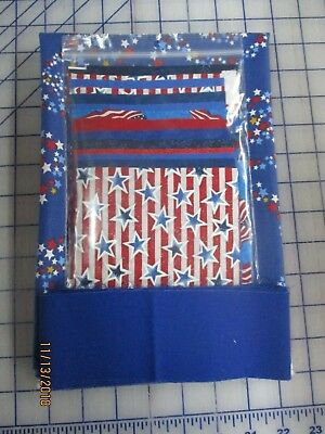 "Americana Table Runner Kit, Fabric & Pattern. 14"" x 43"""