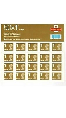 10 x 1st Class Large Letter Self-adhesive  Stamps UNUSED