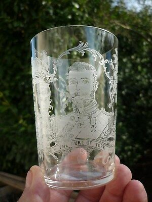 Verre Cristal Grave De Saint Louis  1893 Marriage Duke Of York Princess May Teck