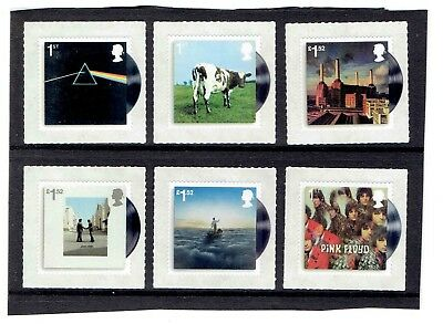GB 2016 Pink Floyd Album Covers, Set of 6 SG3849-3854, UnMounted Mint
