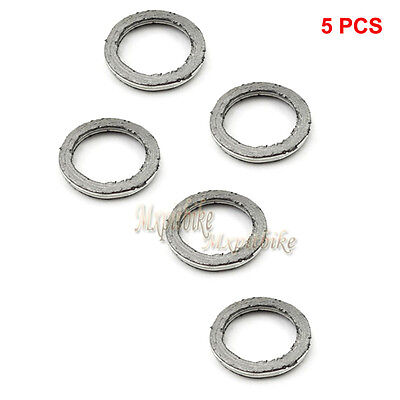 5x GY6 Exhaust Muffler Gasket For 49cc 50 125cc 150cc Chinese Gas Moped Scooter