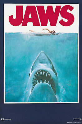 Jaws - Vintage Movie Poster Canvas Print A4 A3 A2 A1 A0 new best cheap