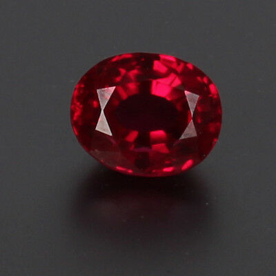 Natural Mozambique Red Ruby Top Quality 7.45 Cts. Oval Cut Loose Certified Gem