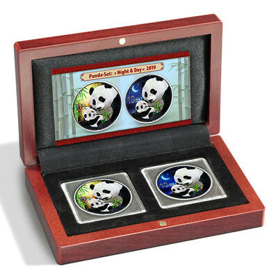 Night and Day Set Silber Panda 2019 30 Gramm Silver China in Farbe farbig Colour
