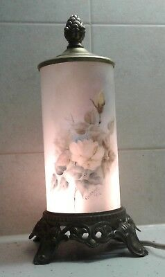 Vintage Hand Painted And Signed Lamp