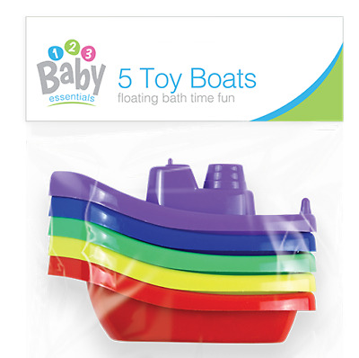 BATH BOATS Plastic Floating Baby Childrens Tub Time Stacking Fun Toys Infant Kid