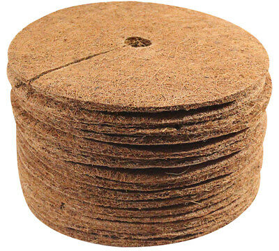 COCO FIBER TREE Ring Weed Control Indoor Outdoor Mat 9 Inches Dia- 15 Pack