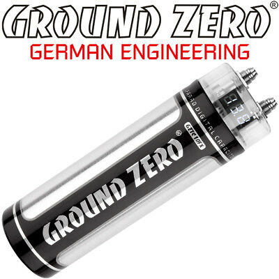 Ground Zero GZTC 1.0FX 1 Farad Power Cap Kondensator Car Hifi 1F Powercap Elko