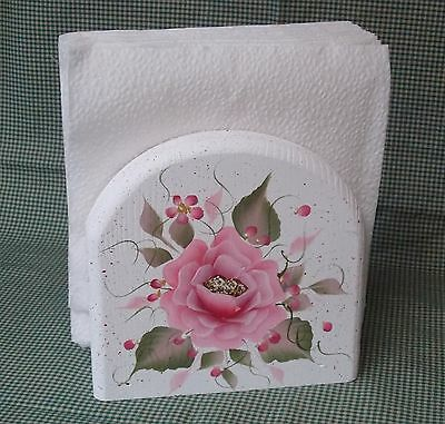 Hand Painted Rose/roses Napkin Holder/ Choose Colors/by Mb
