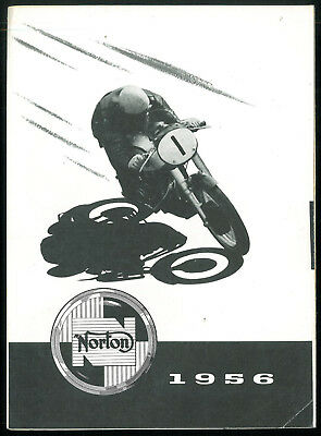 Brochure NORTON 1956 Model 99 - 88 - 50 - 19S ES2. MANX 30/40 Depliant Catalogue