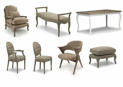 Louis Grande Solid Oak Antique Furniture Range | Armchairs Bench Chairs Tables