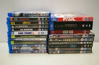 Job Lot 16 X Blu Rays 7 DVDs Marvel Films Thor Paul Game Of Thrones S2 Region 2
