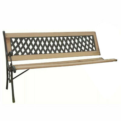 Classic Outdoor Garden Bench 2 Seat Decorative Cast Iron & Hardwood - INCOMPLETE