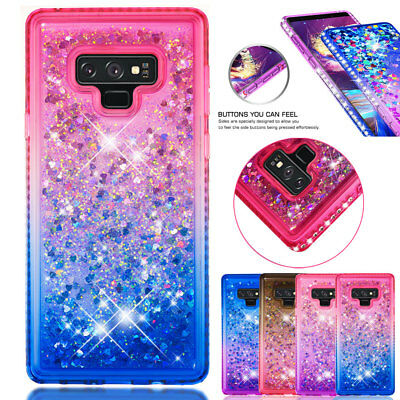 For Samsung Galaxy Note 9 S8 S9+ Case Bling Glitter Quicksand Diamond TPU Cover