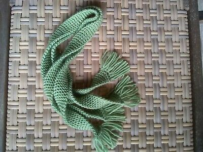 Hand Knit Kilt Hose Garters     Soft Ancient Green  100% WOOL  32 inches EZ Care