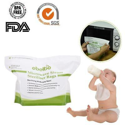 Microwave Steam Disinfection Bag Baby Nursing Bottle Nipple Sterilization Pouch