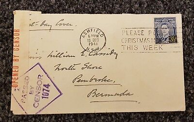 Australia, KGVI FDC, addressed to Bermuda, Opened by Censor