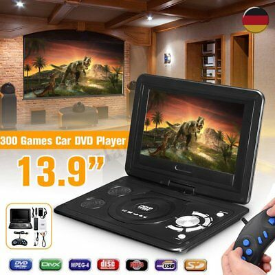 13.9-Zoll tragbarer DVD-Player 270° Tragbarer HD Monitor FM Spiel USB MP3 USB SD