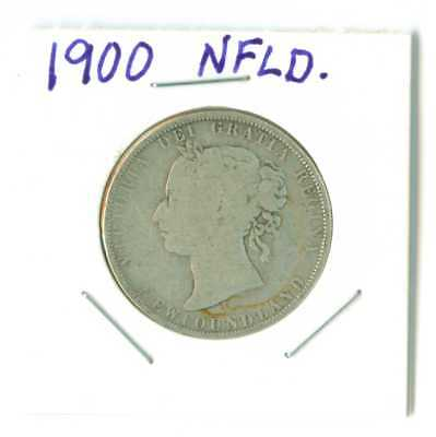 1900   Newfoundland 50 cent .925 silver $2.00 SHIPPING!!