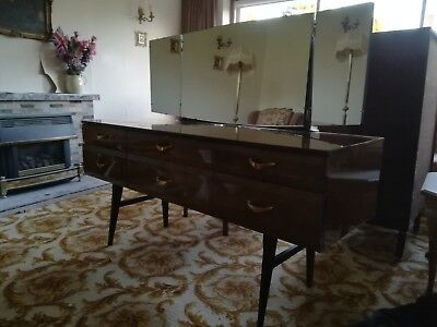 Meredew retro Dressing Table with Mirrors