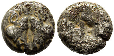FORVM Lesbos 1/10th Billon Stater Confronting Boar Head=Facing Head of Panther
