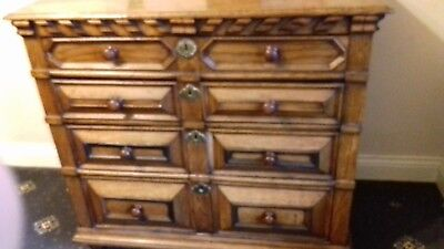 Antique 18th Century European Oak, Chest of Drawers