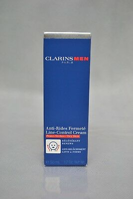 Clarins Men Age Control Line-Control Cream Dry Skin 50ml New Unsealed