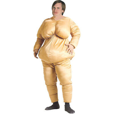 Adult Fat Suit Fancy Dress Costume Deluxe Stag Do Hen Night Outfit Funny Costume