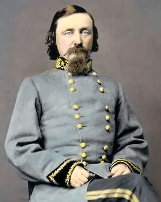 "General George E. Pickett Civil War 1860 8X10"" Hand Color Tinted Photograph"