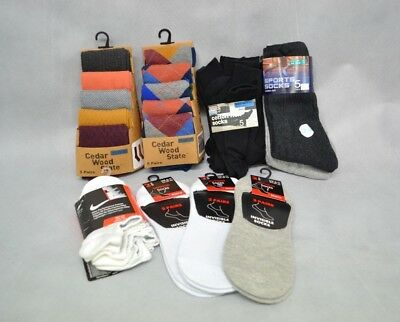 Job Lot Men's Socks Primark, Nike Various Colours Sizes 39-46  - New With Tags