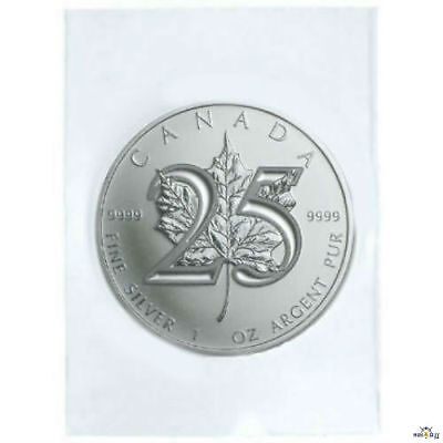 2013 1oz Silver Maple Leaf 25th Anniversary FlexSeal $5 Fine Silver BU Coin