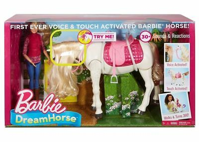 Barbie Dream Horse and Doll 30+ Sounds and Reactions NEW Blonde Voice Activated