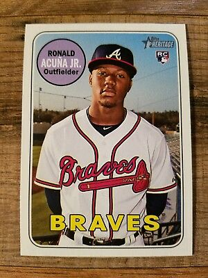 2018 Topps Heritage High Number Ronald Acuna Jr. Rookie Card RC Atlanta Braves