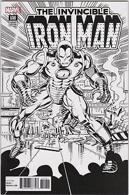 Invincible Iron Man (2017 4th Series) #600 Remastered Variant NM 1:1000