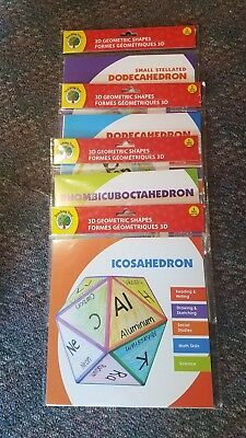 Lot of 4 Teaching Tree 3D Geometric Shapes Icosahedron Rhombicuboctahedron Dodec