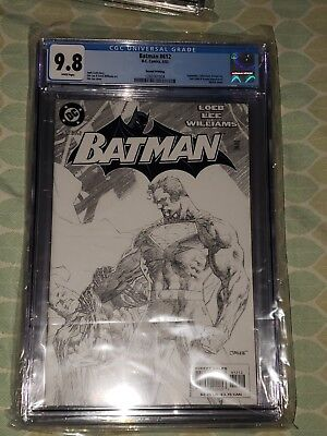 Batman #612, 2nd Print Sketch Variant, CGC Graded 9.8, Jim Lee, Hush