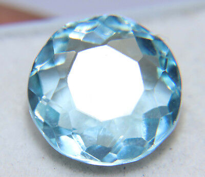 8.15 Cts Natural Round Cut Translucent Loose London Ocean Blue Topaz Gemstone