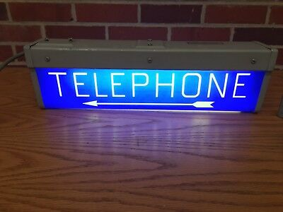 Western Electric Lighted Telephone Sign