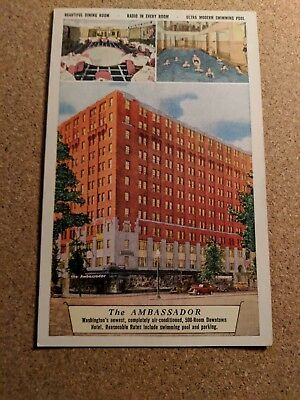 DC, Washington. The Ambassador Hotel.  Vintage postcard.