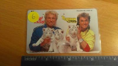Siegfried & Roy Japan Japanese Phone Card S&R Three Cubs/Crystal Ball