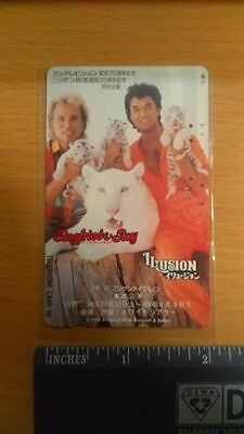 Siegfried & Roy Japan Japanese Phone Card Mother Tiger with Three Cubs