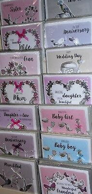 OCCASIONS -RELATIONS HANDMADE CARDS 45p  14 designs x6 each (84) 'NOTTING HILL)